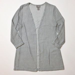 Travelers Collection by Chicos Open Cardigan